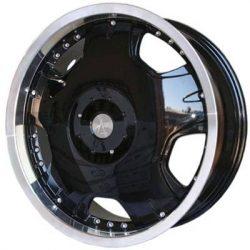AU AU-217 20x8.5 Gloss Black with Machine Lip