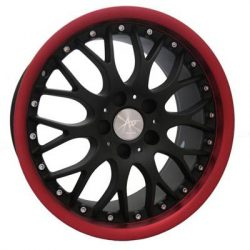 AU AU-378 18x8.5 Matt Black with Red Dish