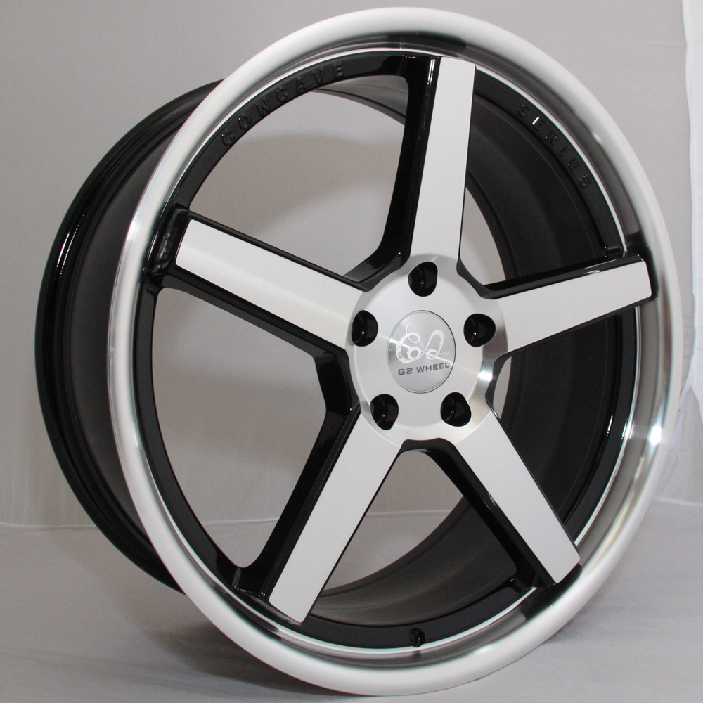 G2 G2-326 20x8.5 Gloss Black with Machine Face