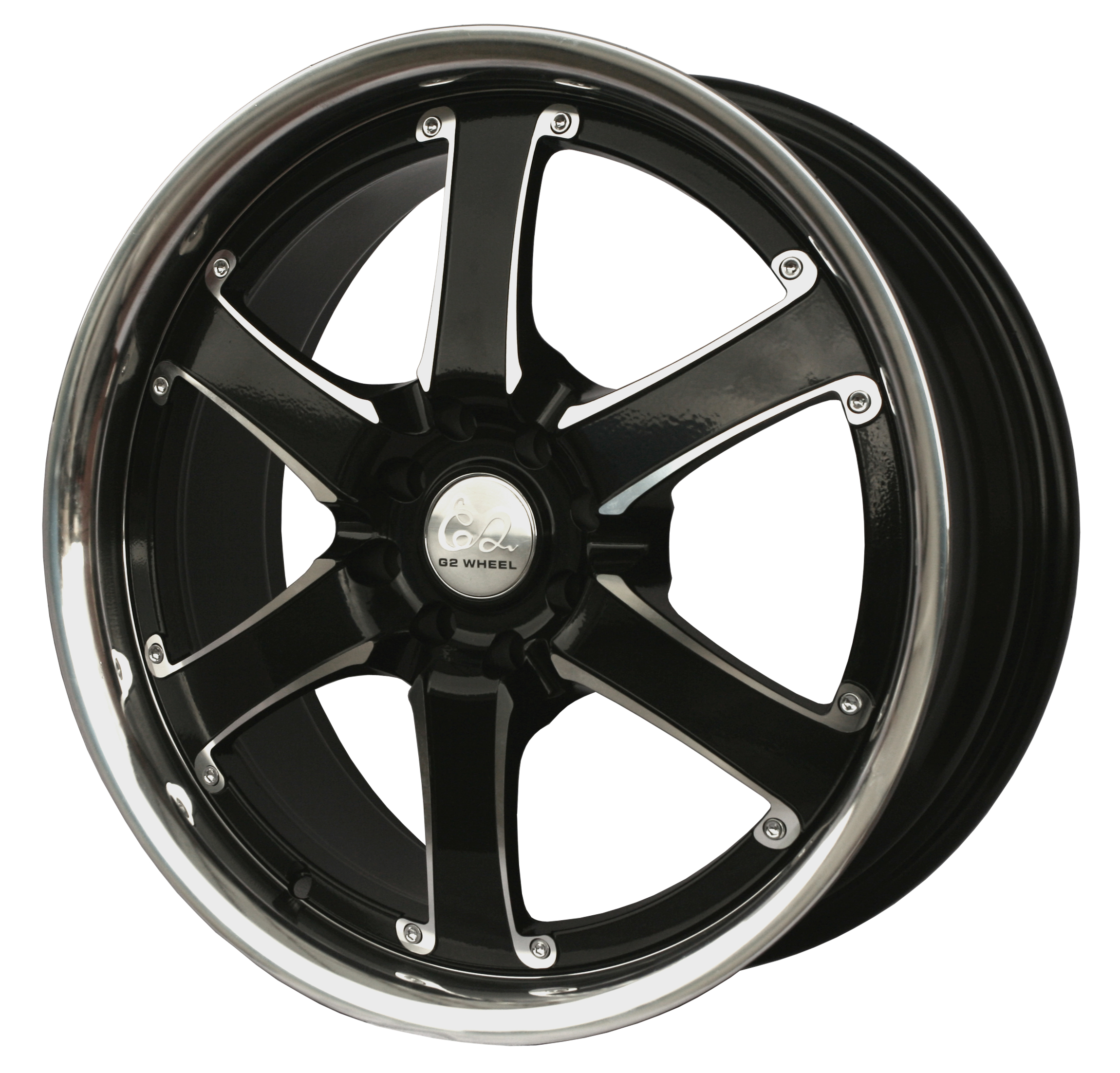 G2 G2-38 18x7.5 Gloss Black with Machine Face