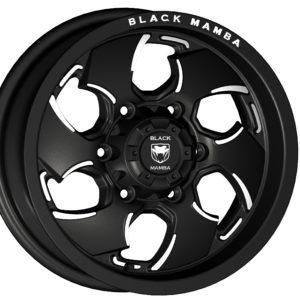 Black Mamba M-16 15x7.5 Matt Black with Machine Milling