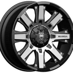 Black Mamba M-13 20x9 Matt Black with Machine Face