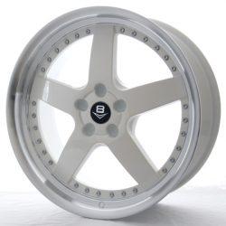 V8 V-71 20x8.5 Gloss White with Machine Lip